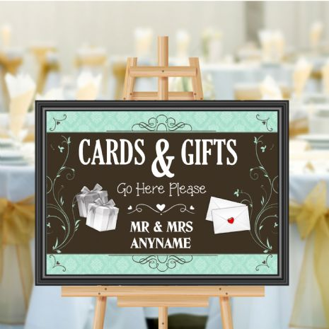 Personalised Wedding Cards & Gifts Sign Poster Banner - Print N180